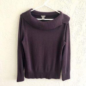 Ann Taylor Cowl Neck Sweater Purple XL